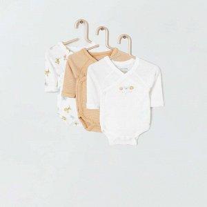 Комплект из 3 боди Eco-conception - белый