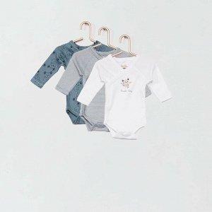 Комплект из 3 боди Eco-conception - голубой