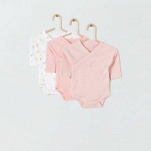 Комплект из 3 боди Eco-conception - розовый