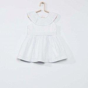 Платье и трусики Eco-conception - синие полосы