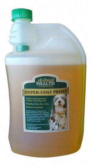 Animal Health Hyper Coat Prime Натуральная добавка для кожи и шерсти (с конопляным маслом) 1 л