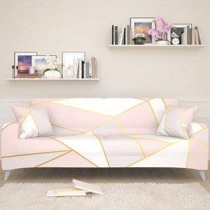 Чехол для дивана Розовый геометрический рисунок