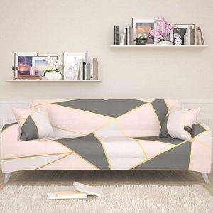 Чехол для дивана Розовый геометрический рисунок 2