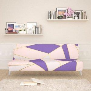 Чехол для дивана б/п Розовый геометрический рисунок 3