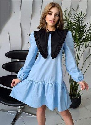 Платье со съемным воротничком.