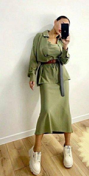 Костюм платье+рубашка.