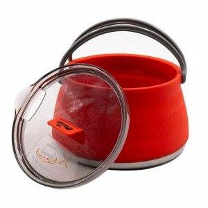 Чайник Tramp складной силиконовый 1 л, цвет терракотовый