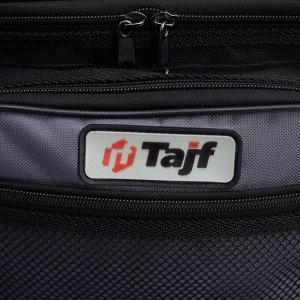 Сумка туристическая, отдел на молнии, 3 наружных кармана, 2 боковые сетки, цвет чёрный/серый