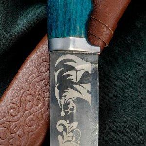 Нож Пчак Шархон - рукоять эбонит, металл, зеленый