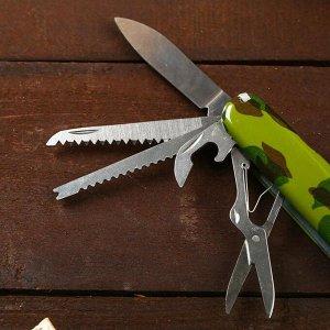 Нож швейцарский 13в1 рукоять камуфляж