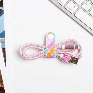 """Набор держатель для провода+кабель USB андройд """"Самой особенной"""", 12 х 19 см"""