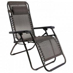 Кресло-шезлонг плетеное 177х66х113 см, до 100 кг