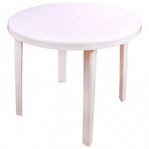 Стол круглый размер 900х900х750, цвет белый