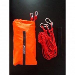 Гамак, двухместный, усиленный, оранжевый