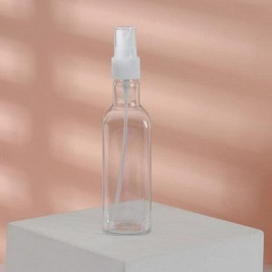 Бутылочка для хранения, с распылителем, с разметкой, 145 мл, цвет белый