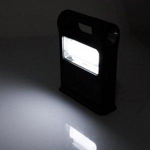 Фонарь 3 вт+1 вт с двумя лампочками по 3 Вт, солнечная батарея, USB, зарядка для телефона