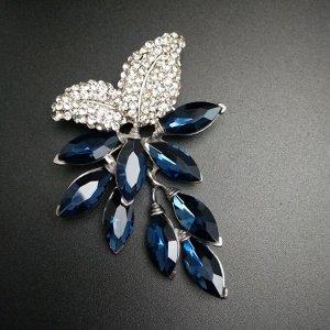 Большая брошь-цветок CINDY XIANG с кристаллом