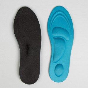 Стельки для обуви, универсальные, амортизирующие, 35-40 р-р, пара, цвет МИКС