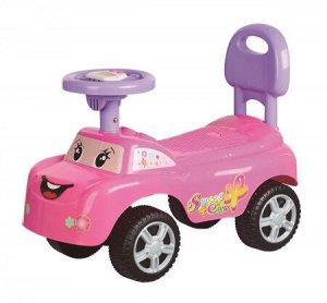 Автомобиль для катания детей (толокар) 618В (розовый)