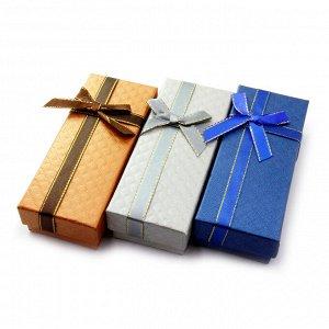 Коробочка подарочная с атласным бантиком 12см-5см-3см