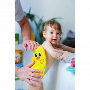 Мочалка детская для купания «Утёнок», варежка, из махры