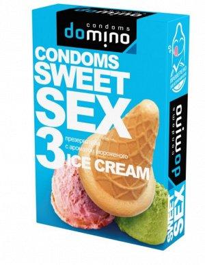 ПРЕЗЕРВАТИВЫ DOMINO SWEET SEX ICE CREAM 3штуки