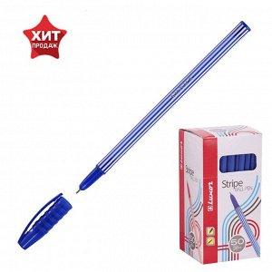 Ручка шариковая Luxor 31131 Stripes, игольчатый пишущий узел 0.7 мм, чернила синие