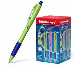 Ручка шариковая автоматическая Ultra Glide Technology JOY Neon, узел 0.7 мм, чернила синие, резиновый упор, длина линии письма 1300 метров, микс