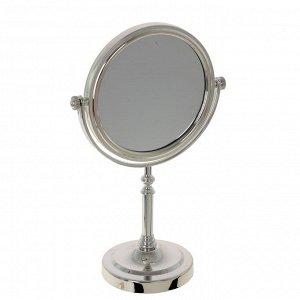 Зеркало настольное двустороннее с увеличением, L17,5 W10 H28 см