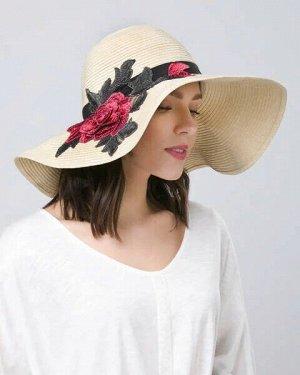 "Fabretti. Шляпа ""Роза"" с вышивкой"