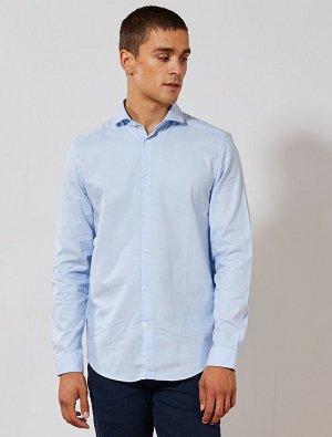 Прямая рубашка из хлопка