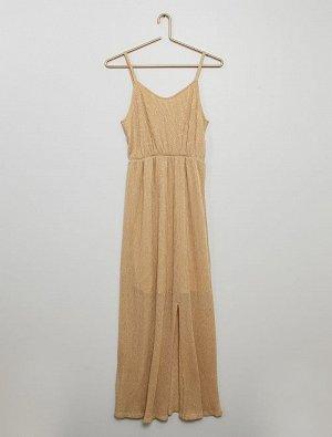 Длинное платье с блестками