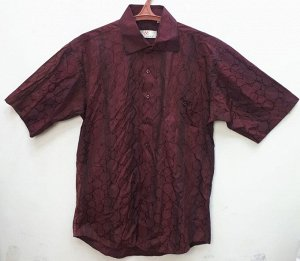 Рубашка мужская бордовая