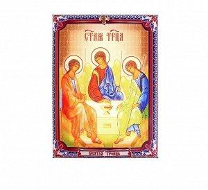 """Икона холст """"Святая Троица"""" на подвесе"""