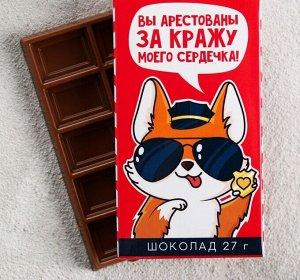 Шоколад молочный «Вы арестованы»: 27 г