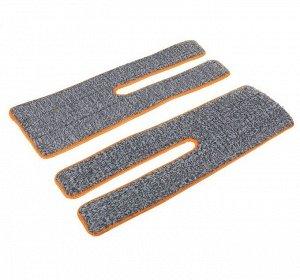 Набор насадок для плоской швабры с отжимом, 38×12 см, микрофибра, 2 шт, цвет МИКС
