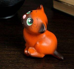 "Фигура ""Котик Мурзик"" 9 см, рыжий"