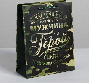 Пакет ламинированный вертикальный «Герой!», MS 18 × 23 × 8 см