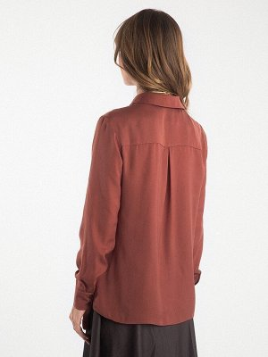 Однотонная рубашка B2412/chary