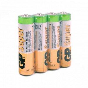 "Батарейка мизинчиковая ААА ""GP Super"" (1.5V, 24А, 4 штуки, в плёнке)"