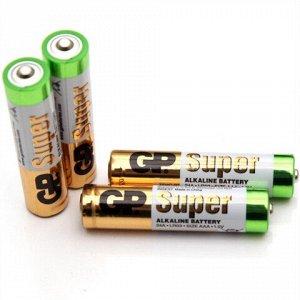 """Батарейка пальчиковая АА """"GP Super"""" (1.5V, 15А, 4 штуки, в плёнке)"""