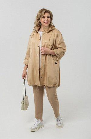 Куртка Куртка Pretty 1967 бежевый  Состав: Хлопок-96%; Эластан-4%; Сезон: Весна Рост: 164  Куртка из плотной, водонепроницаемой ткани (плащёвки), трапециевидного силуэта.Линия плеча мягкая, спущенная