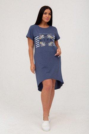 Платье Изделие разработано и произведено партнером Нагорная-текстиль, швейной фабрикой ZARKAКулиркаХБ 100%фиолетово-синий