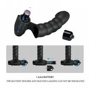 Насадка на палец с вибрацией ALEXANDER L 130 мм D 26 мм, 10 режимов вибрации