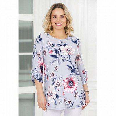 Л*а*в*и*р*а. Женская одежда. От 46 до 64 размера — Джемперы, туники, блузы, жакеты — Рубашки и блузы
