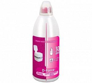 D-Force Pink концентрированное средство для верхнего бака. Сохраняет воду в баке свежей, нейтрализует неприятные запахи, оставляет приятный аромат лаванды после каждого смыва. Расход: 60мл / 15л бака