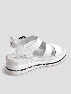 Туфли женские летние, белая кожа