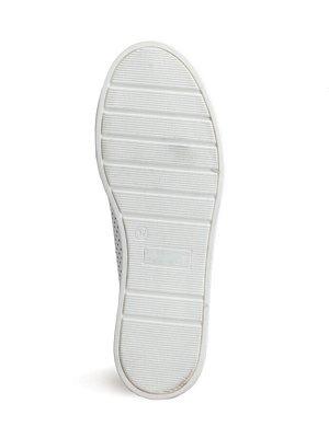 Туфли летние женские, белая кожа