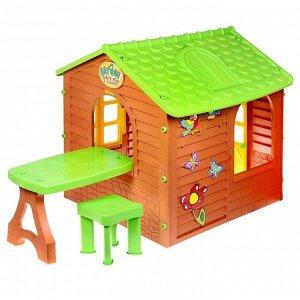 Детский игровой домик со столиком