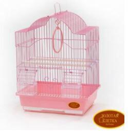 Клетка для птиц Золотая клетка 30*23*39cм, эмаль